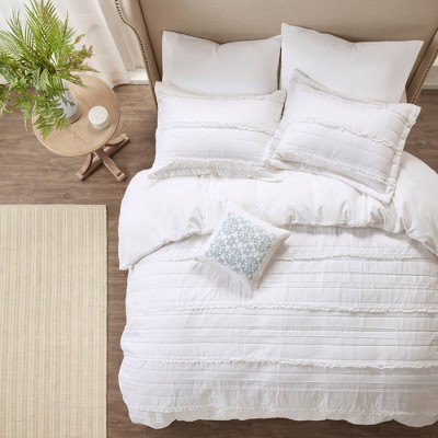 4pc Alexis Ruffle 2-in-1 Duvet Cover Set