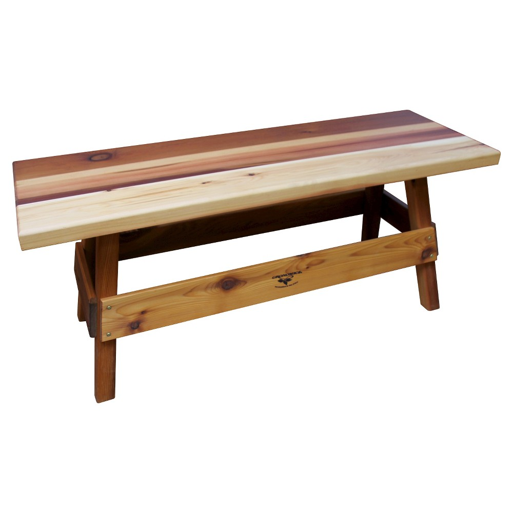 "Image of ""51""""x16""""x22"""" Garden Bench - Western Red Cedar - Gronomics"""