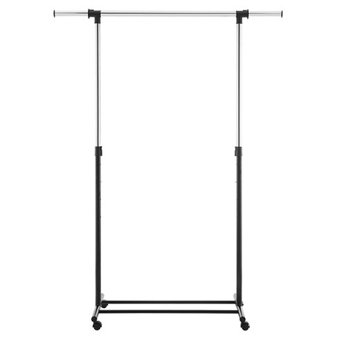 Metal Base Adjustable Single Rod Garment Rack - Black - Room Essentials™ - image 1 of 1