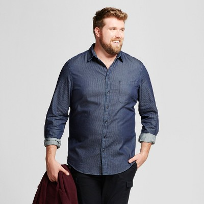 54b7b98ea Men's Big & Tall Standard Fit Denim Shirt - Goodfellow & Co™ : Target