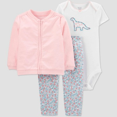 Baby Girls' Dino Top & Bottom Set - Just One You® made by carter's Pink Newborn