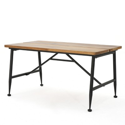 Eleanora Industrial Coffee Table - Antique/Black - Christopher Knight Home