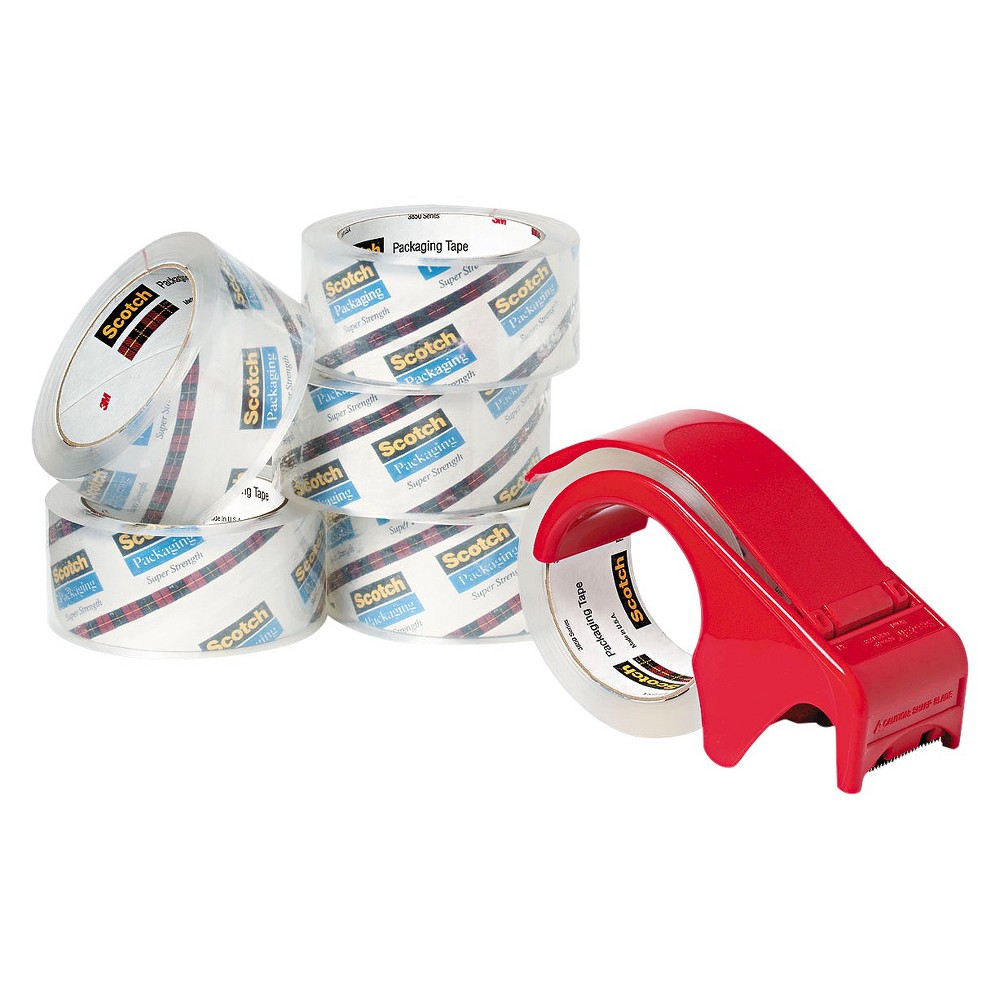 Image of Scotch Heavy-Duty Packaging Tape - White (6 Per Pack)