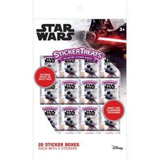 20ct Star Wars Valentine Sticker Box Card Pack