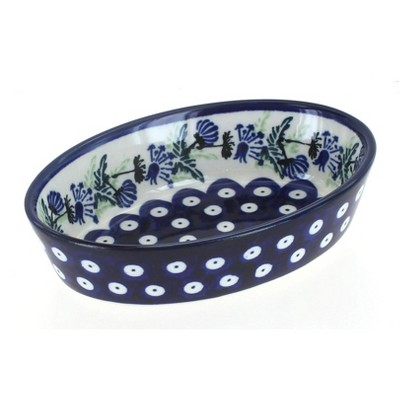Blue Rose Polish Pottery Sweet Annie Extra Small Oval Baker
