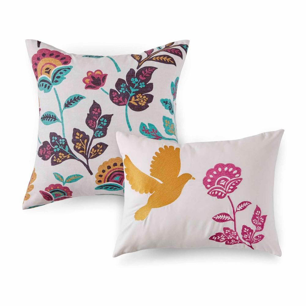 Image of 2pc Mina Throw Pillow Set Natural - Azalea Skye, White