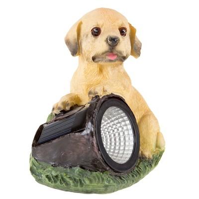 Dog Solar Powered LED Light Garden Statue (4.75 x4 x5.75 )- Pure Garden