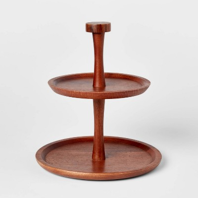 Wood 2-Tier Signature Serving Stand - Threshold™