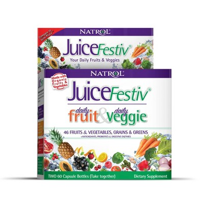 Natrol JuiceFestiv Capsules - 120ct