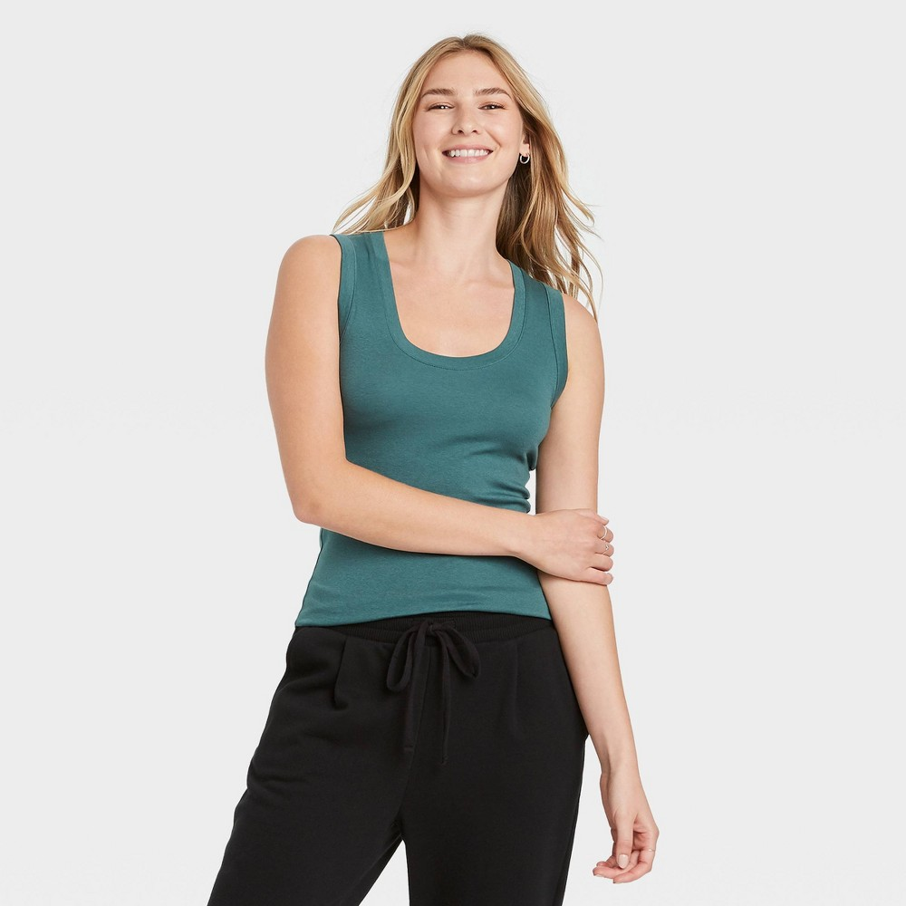 Women 39 S Slim Fit Tank Top A New Day 8482 Teal Xs