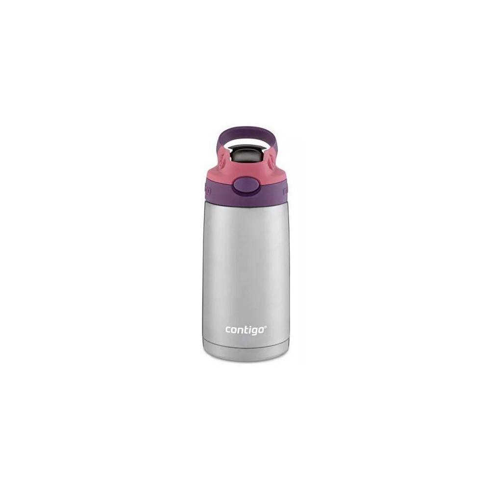 Contigo 13oz Stainless Steel Kids Autospout Water Bottle Pink/Purple