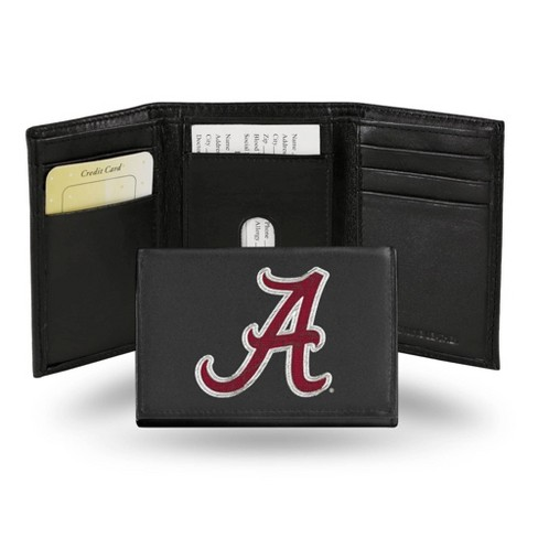 NCAA Alabama Crimson Tide Embroidered Genuine Leather Tri-Fold Wallet - image 1 of 1