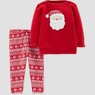 Baby Girls' 2pc Santa Set - Just One You® made by carter's Red Newborn