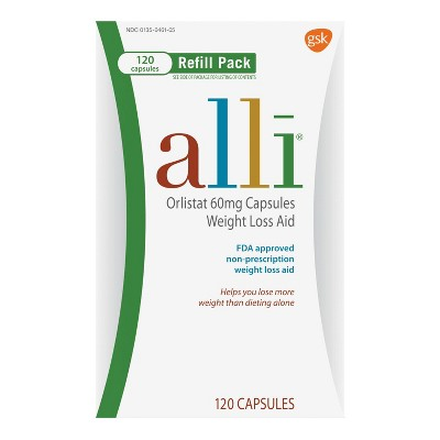 image relating to Alli Coupons Printable identify Alli Orlistat 60 mg Supplements Bodyweight Reduction Assistance Refill Pack - 120ct