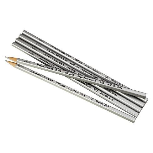 Prismacolor® 12ct Verithin Colored Pencils - Metallic Silver - image 1 of 1