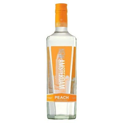 New Amsterdam Peach Flavored Vodka - 750ml Bottle