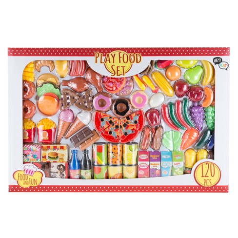 Pretend Play Assorted Food Set - Fresh, Boxed and Canned Food by Hey! Play! - image 1 of 8