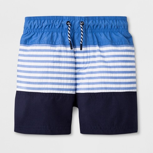 47757d0135 Toddler Boys' Swim Trunks - Cat & Jack™ Blue : Target