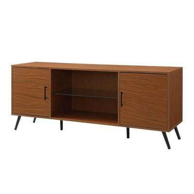 "60"" Mid Century Modern 2 Door TV Console Acorn - Saracina Home"