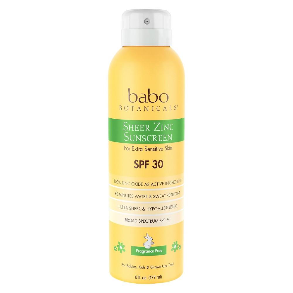 Image of Babo Botanicals Sheer Zinc Sunscreen Spray Fragrance - SPF 30 - 6.0oz