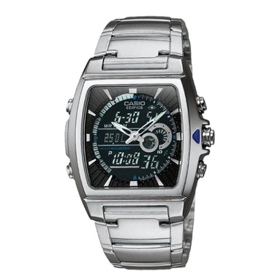 "Casio Men's Square Face Ana-Digi Watch - Silver (9"") - EFA120D-1AV"