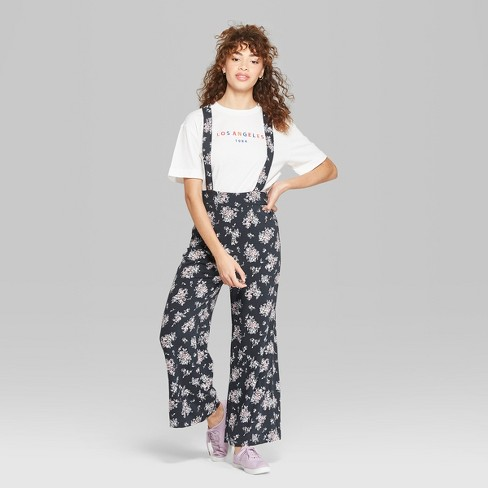 786ae7126c38 Women's Floral Print Sleeveless Strappy Suspender Jumpsuit - Wild Fable™  Gray