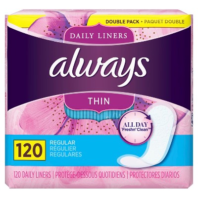 Always Thin Daily Liners - 120ct