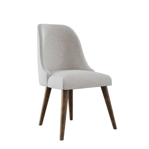 Aurora Upholstered Mid Century Dining Chair (Set of 2) Beige - Abbyson Living - image 1 of 5