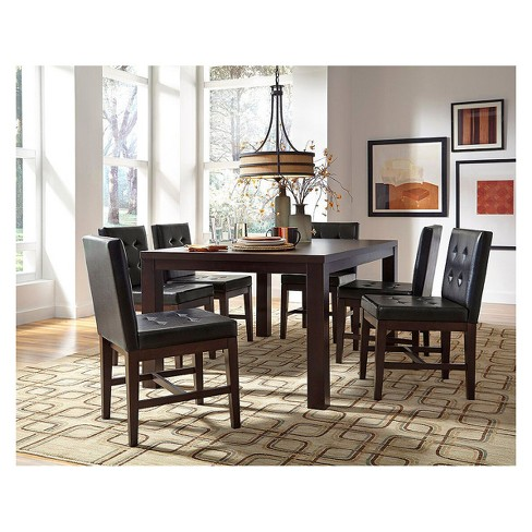 "Athena 18 "" Dining Upholstered Chairs (set of 2) - Dark Chocolate - Progressive Furniture - image 1 of 1"