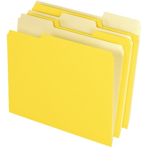 Pendaflex 1/3 Cut Two-Tone Top Tab File Folders, Letter Size, Yellow, pk of 100 - image 1 of 1