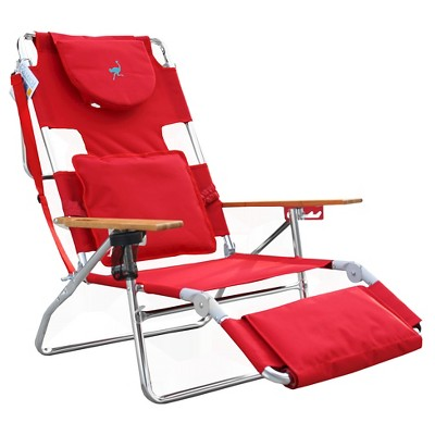 Ostrich Face Down 3 In 1 Beach Chair Bright Pink - Deltess