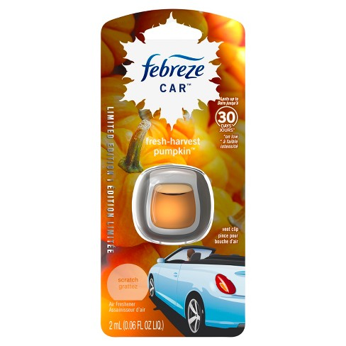 Febreze Fresh-Harvest Pumpkin Scented Car Air Freshener - 1ct - 0.06oz - image 1 of 5