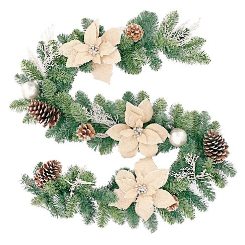 about this item - Burlap Christmas Garland