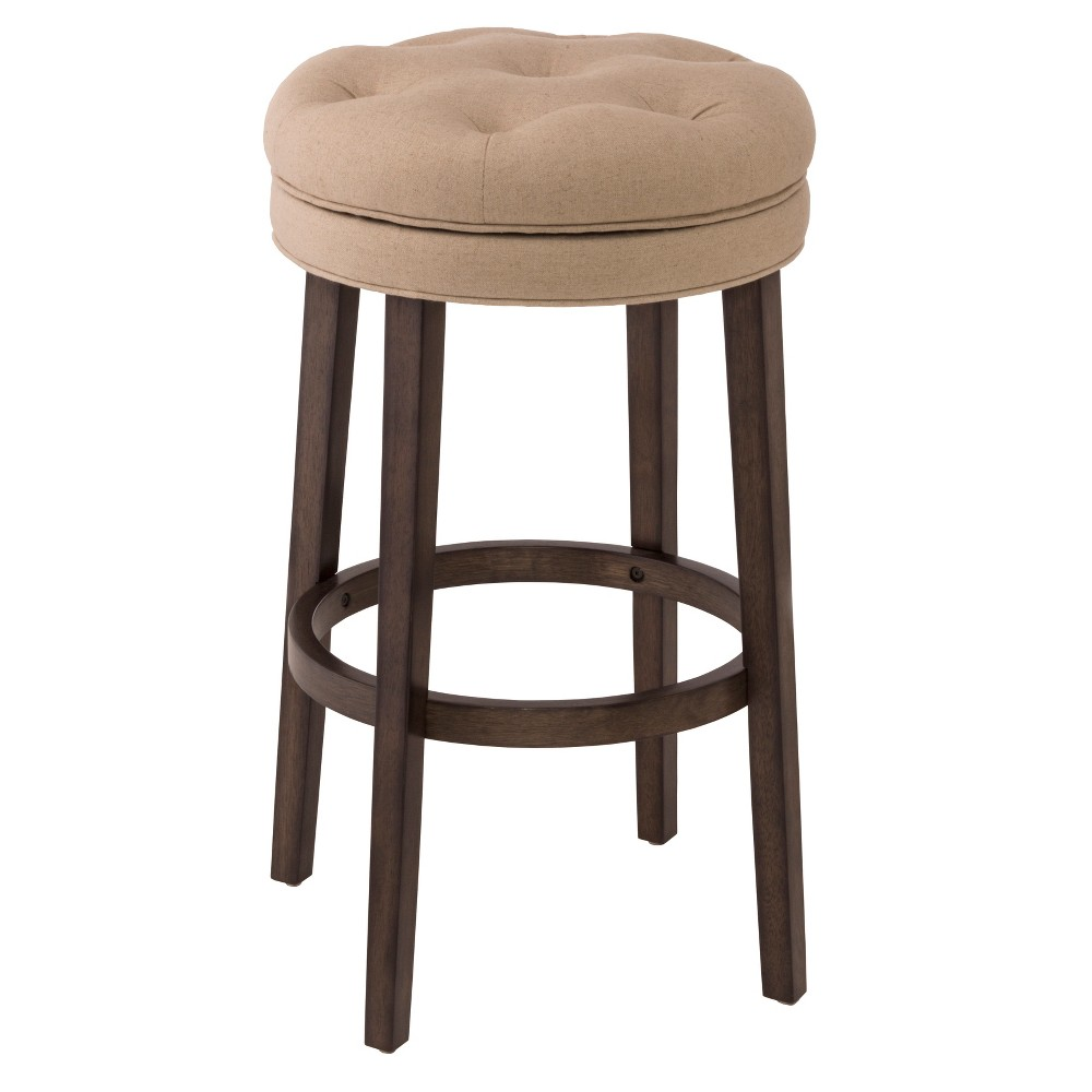 Krauss Backless Counter Stool - Charcoal Gray - Hillsdale Furniture, Gray Graphic