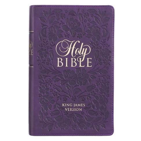 KJV Bible Giant Print Purple - (Leather_bound) - image 1 of 1