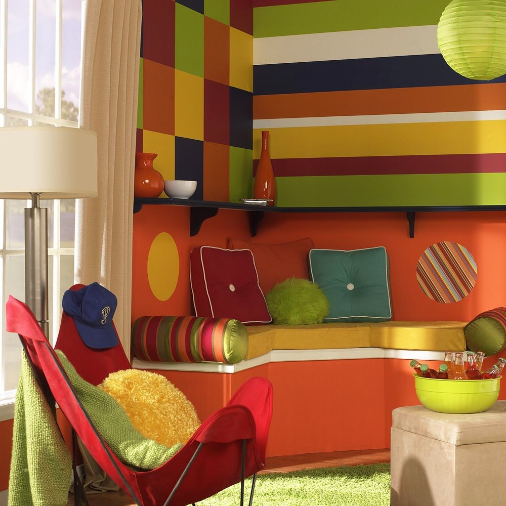 Image of Wall Pops! Stylin' Green Dot Vinyl Wall Decor 10-ct.
