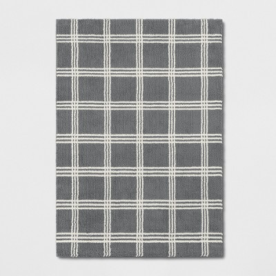 7'X10' Plaid Tufted Area Rugs Gray - Threshold™