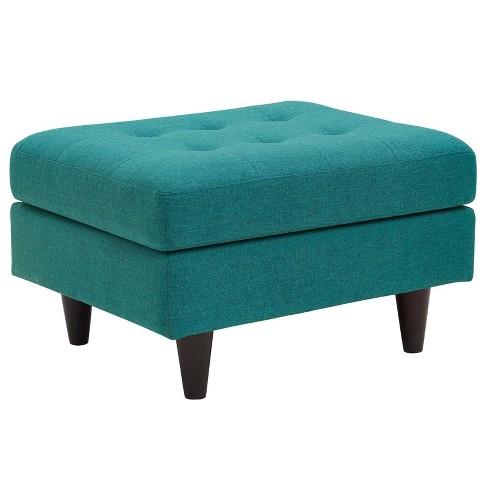 Fine Empress Upholstered Ottoman Teal Modway Uwap Interior Chair Design Uwaporg