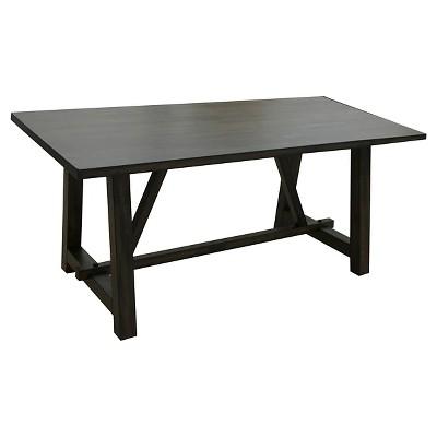 Kaelyn Dining Table Wood/Dark Oak/Black   Acme