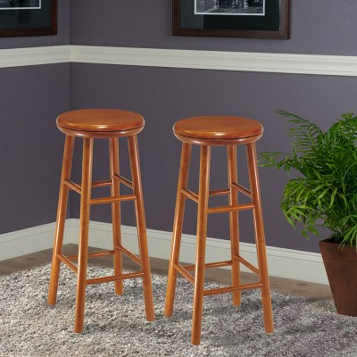 'Winsome Swivel Seat 30.9'' Barstool - Cherry (Set of 2), Red'