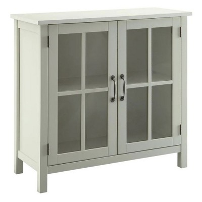 Belray Home Storage Accent Cabinet with Glass Doors and Adjustable Shelf