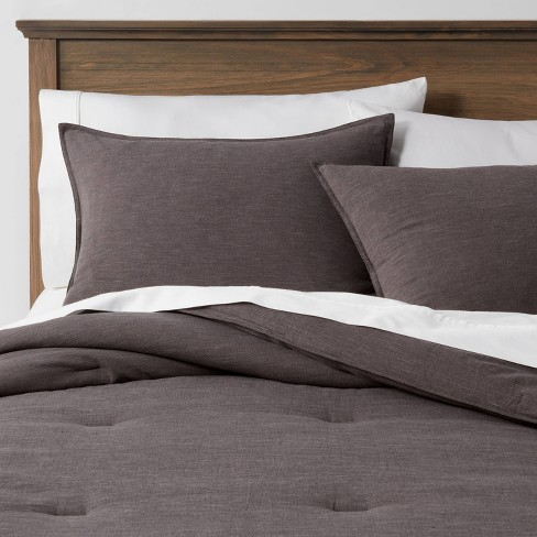 Space Dyed Cotton Linen Comforter & Sham Set - Threshold™ - image 1 of 4