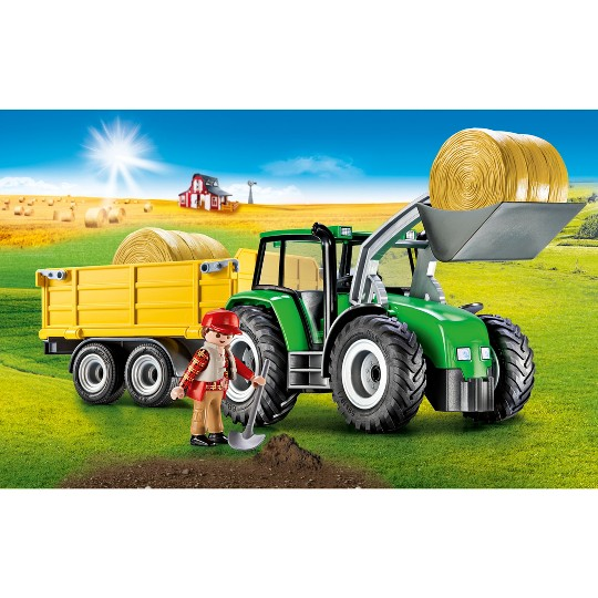 Playmobil Tractor with Trailer image number null