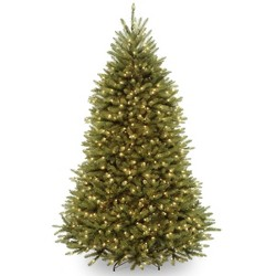 National Tree Company 6.5ft Pre-Lit Dunhill Fir Hinged Artificial Tree with 650 Clear Lights