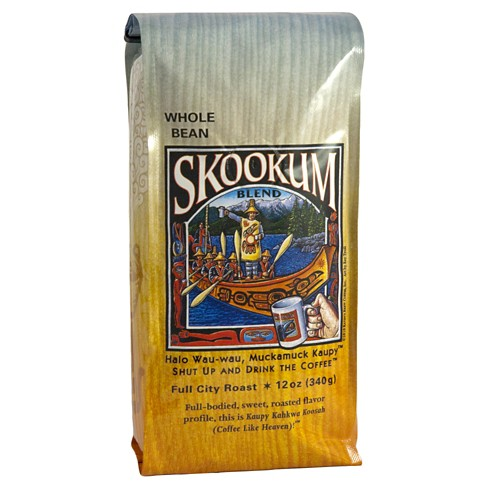 Raven's Brew Skookum Blend Full City Roast Whole Bean Coffee 12oz - image 1 of 1