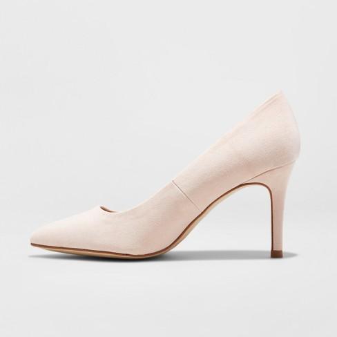 43528632ba Women's Gemma Wide Width Pointed Toe Nude Pumps - A New Day™ Mochaccino 11W  : Target