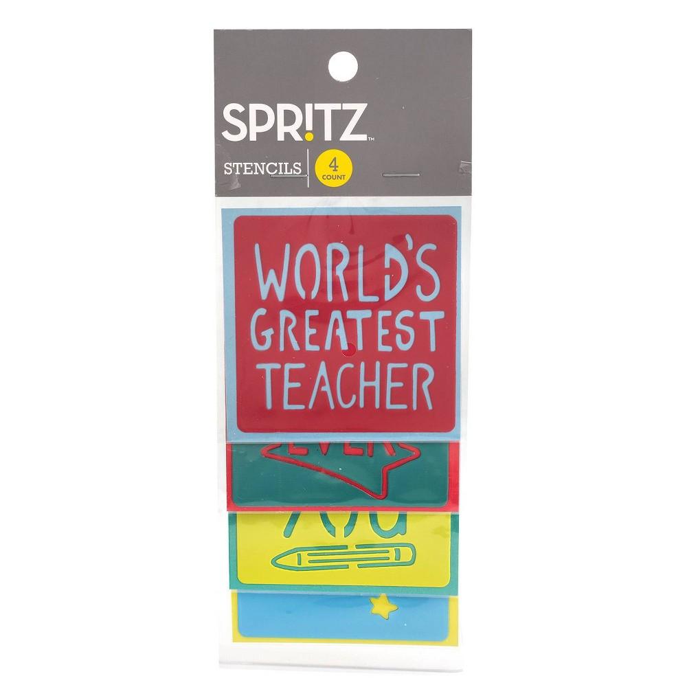 Image of 4ct Teacher Stencils - Spritz