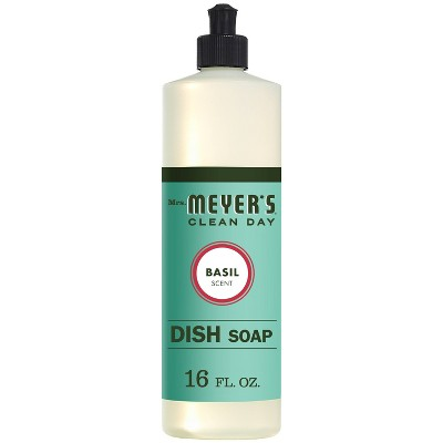 Mrs. Meyer's Clean Day Basil Scent Liquid Dish Soap - 16oz