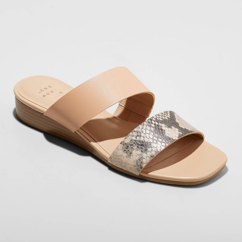 Image of Women's Ana Snake Two Band Espadrille Sandals - A New Day Blush 12
