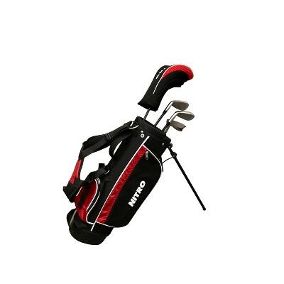 Nitro Golf Blaster Junior's 6pc Golf Set - Black/Red